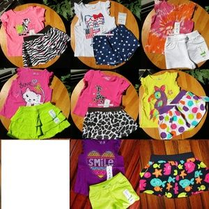 15pc Baby 12 month Girl Skirt Top Shorts $180 NEW
